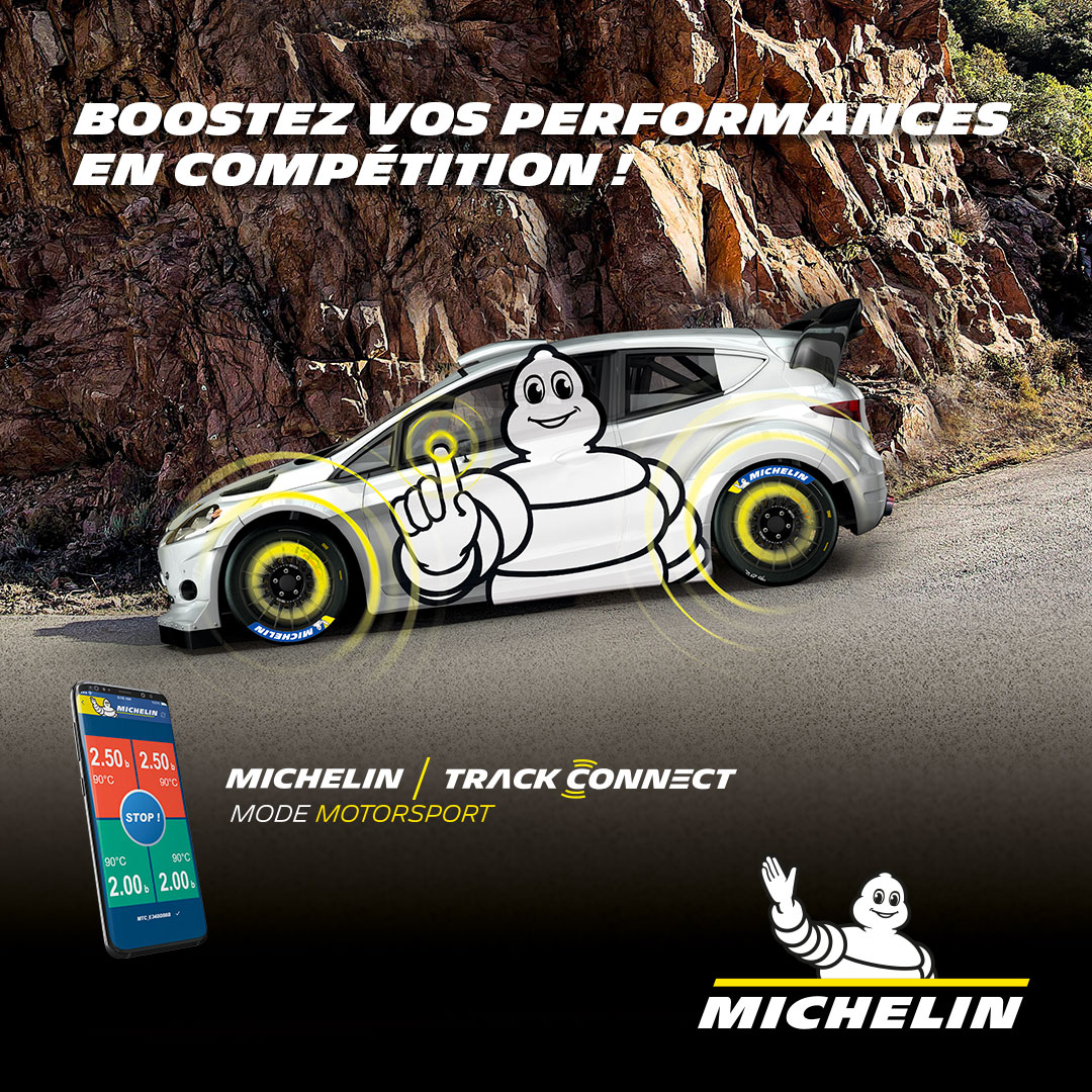 Téléchargez l'application MICHELIN TRACK CONNECT